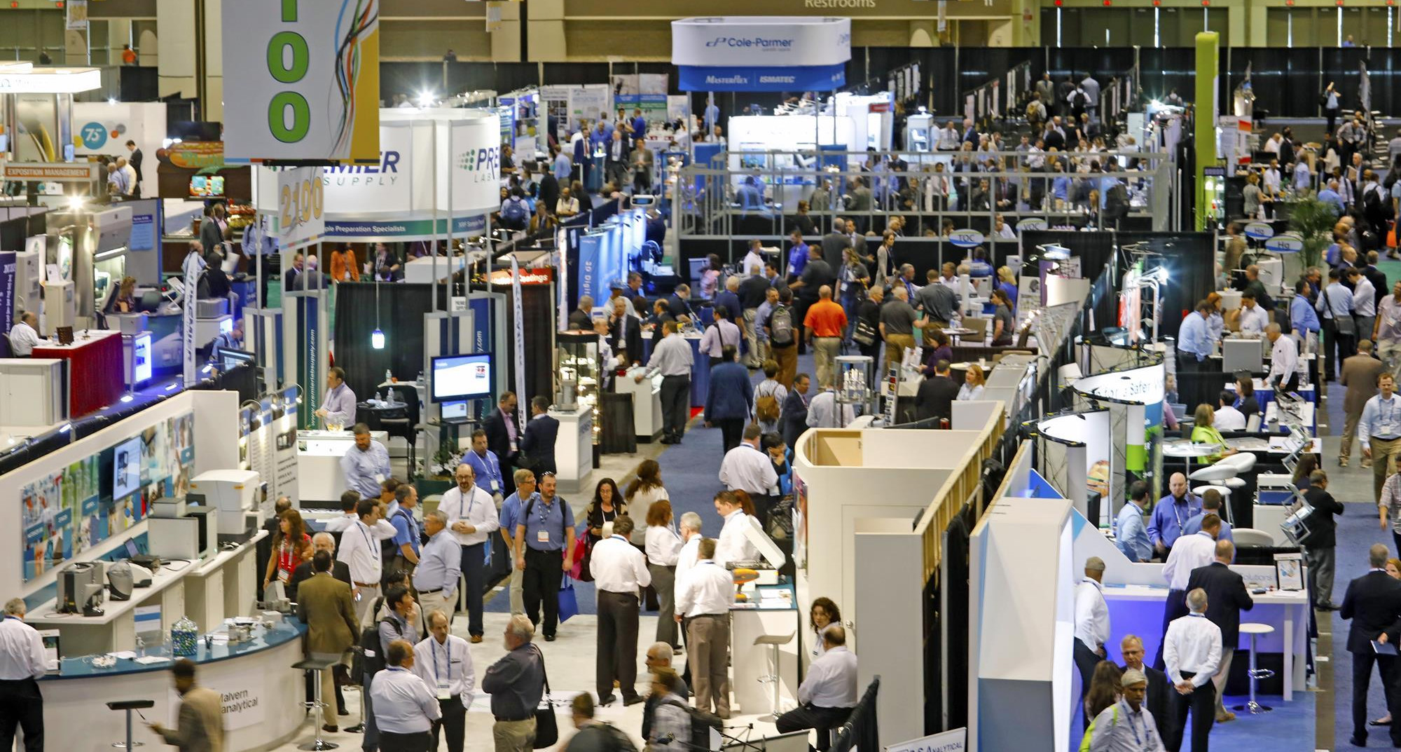 Exhibition floor at Pittcon